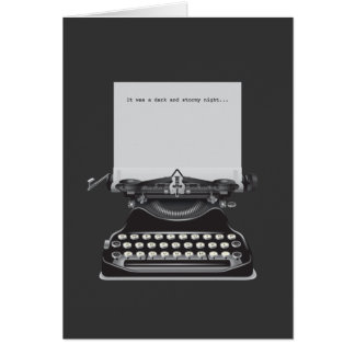 It was a Dark and Stormy Night Greeting Cards