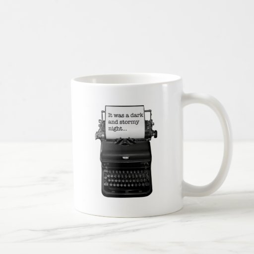 It was a dark and stormy night. classic white coffee mug | Zazzle