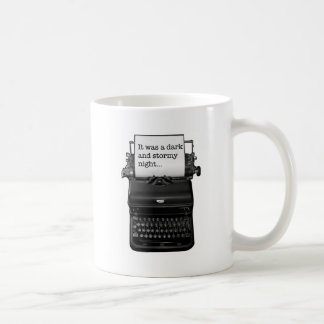 It was a dark and stormy night. coffee mug