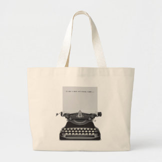 It was a Dark and Stormy Night Large Tote Bag