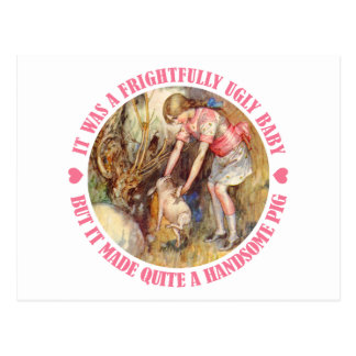 IT WAS A FRIGHTFULLY UGLY BABY, ALICE THOUGHT POSTCARD