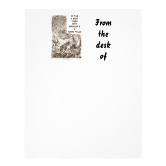 It Was A Night Filled With Fireworks Flying Pieces Letterhead