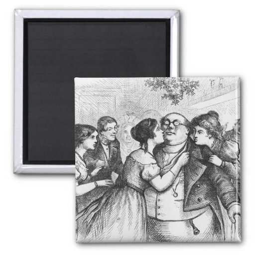 It was a pleasant thing to see Mr. Pickwick Refrigerator Magnet