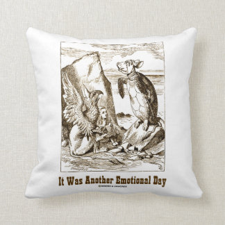 It Was Another Emotional Day (Alice Mock Turtle) Throw Pillow