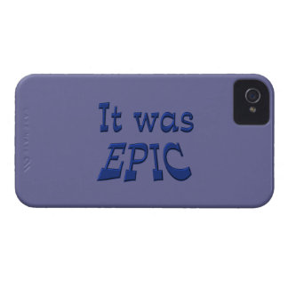 It Was Epic - Blue Background iPhone 4 Case-Mate Cases