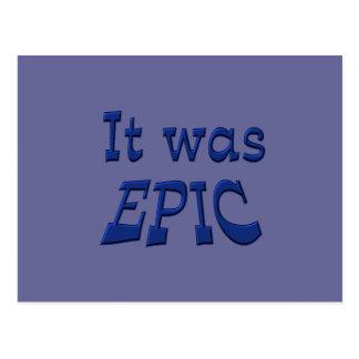 It Was Epic - Blue Background Postcard