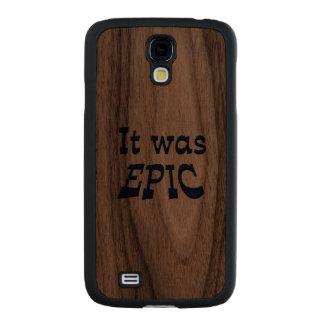 It Was Epic Carved® Walnut Galaxy S4 Case