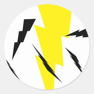 It Was Like Lightening! Classic Round Sticker