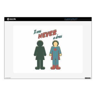 "It Was Never A Dress - Wonder Super Girl Woman 15"" Laptop Skin"
