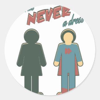 It Was Never A Dress - Wonder Super Girl Woman Classic Round Sticker