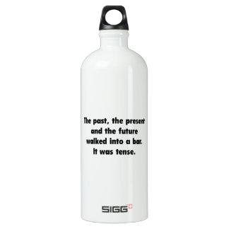 It was tense. aluminum water bottle