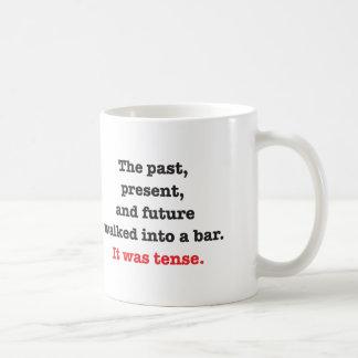 It Was Tense. Classic White Coffee Mug