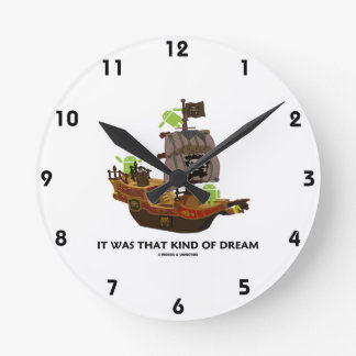 It Was That Kind Of Dream (Android Ghost Ship) Round Wall Clock