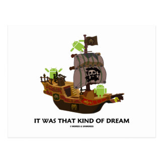 It Was That Kind Of Dream (Android Ghost Ship) Postcard