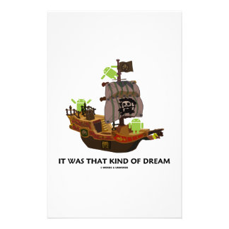 It Was That Kind Of Dream (Android Ghost Ship) Stationery