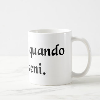 It was that way when I got here. Classic White Coffee Mug