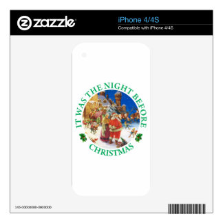 It Was The Night Before Christmas iPhone 4S Decals