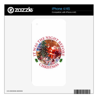 It Was The Night Before Christmas iPhone 4S Skins