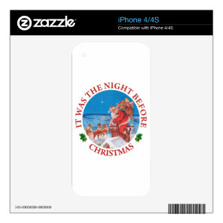 It Was The Night Before Christmas Skin For iPhone 4