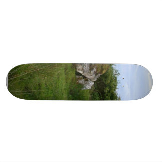 It Was Three Tombs Side By Side With What Looked L Skate Board Decks