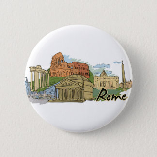 It Wasn't Built In A Day (Rome) Pinback Button