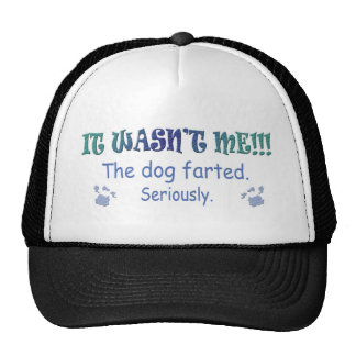 it wasn't me - the dog farted seriously trucker hat