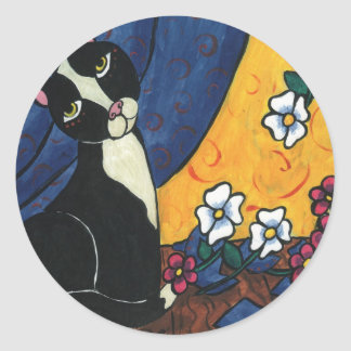 It Wasn't Me - Tuxedo Cat Classic Round Sticker