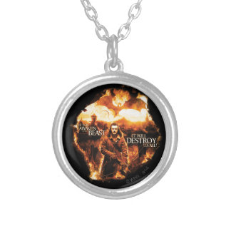 It Will Destroy Us All! Round Pendant Necklace