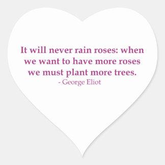 It Will Never Rain Roses Heart Sticker