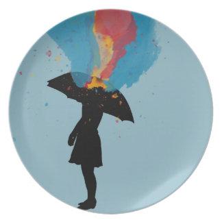 It will rain dinner plate