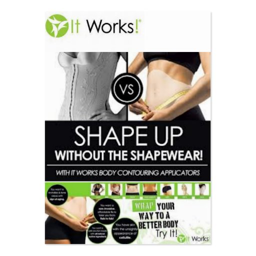 IT WORKS BLITZ CARD SHAPE UP LARGE BUSINESS CARDS Pack