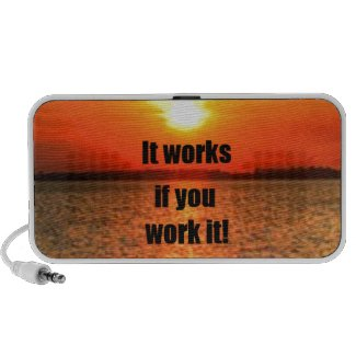 It Works If You Work It iPod Speakers