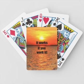 It Works If You Work It Poker Deck
