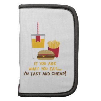 It You Are What You Eat... I'm Fast And Cheap! Planner