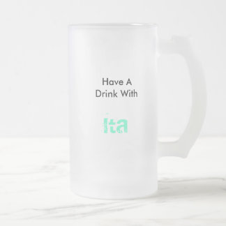 Ita 16 Oz Frosted Glass Beer Mug