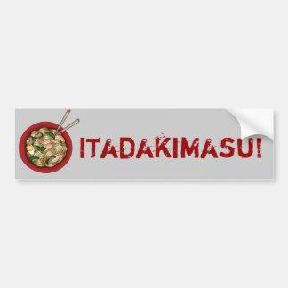 Itadakimasu Bumpersticker Bumper Sticker