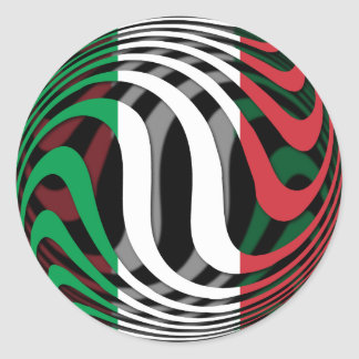 Italia #1 pegatina redonda