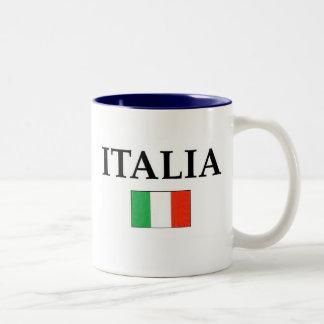Italia (2) taza de dos tonos