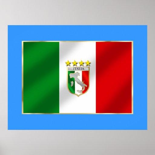 Italia 4 mide el tiempo del camisetas y de los reg póster