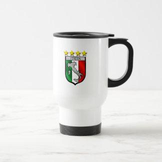 Italia 4 regalos del fútbol de los campeones del m taza de viaje de acero inoxidable