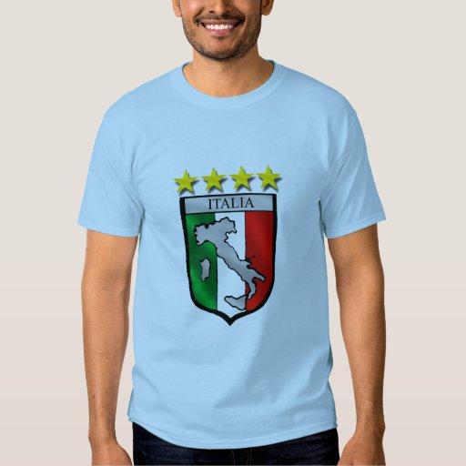 Italia 4 regalos del fútbol de los campeones del playera