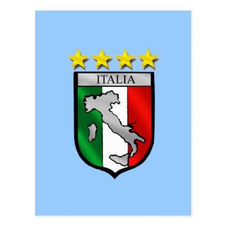 Italia 4 regalos del fútbol de los campeones del postales