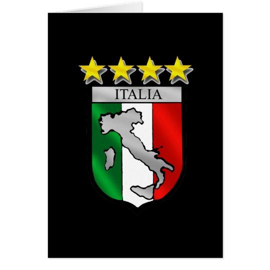italia 4 stars world champions soccer gifts card