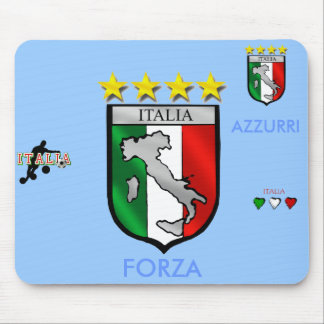 italia 4 stars world champions soccer gifts mouse pad