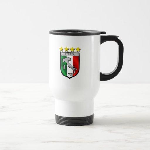 italia 4 stars world champions soccer gifts coffee mug
