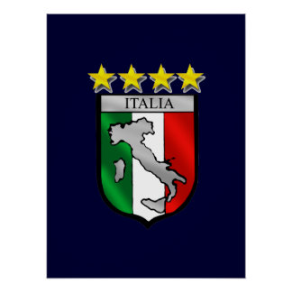 italia 4 stars world champions soccer gifts posters