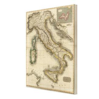 Italia 8 impresión en lienzo estirada