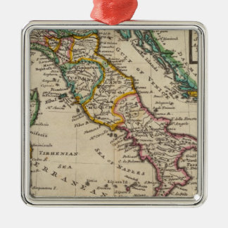 Italia 9 adorno navideño cuadrado de metal