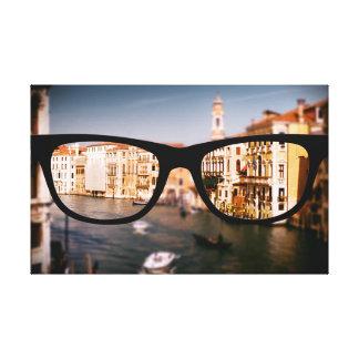 Italia a través de los vidrios de Sapio Impresión En Lona