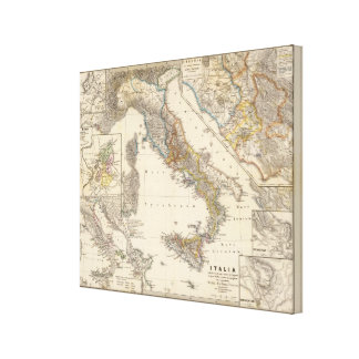Italia adiectis iis canvas print
